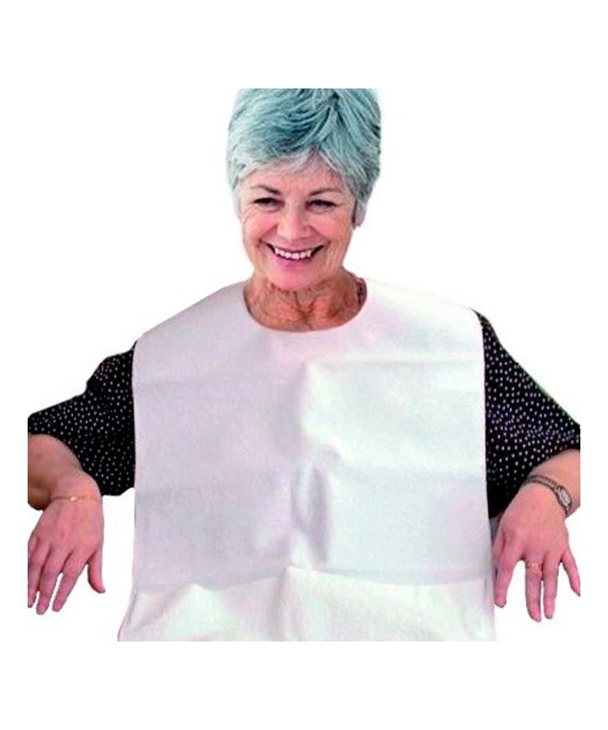 Babero impermeable para adultos - Ref: Blanco
