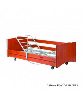 Cama articulada con carro elevador - Ref: ALEGIO MADERA