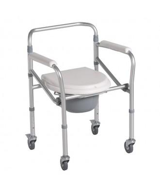 Cadeira sanitária desdobrável com rodas - Ref: 2171