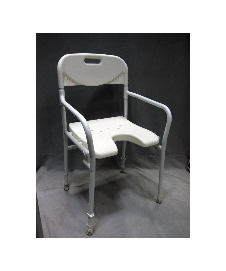 Cadeira de banho desdobrável de alumínio 2298