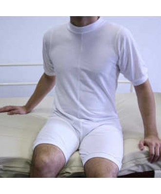 Pijama corto con cremallera en la espalda
