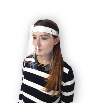 Máscara facial de protecção com elástico de borracha
