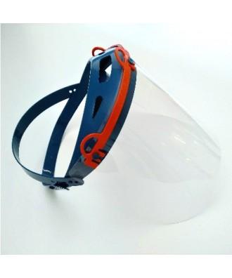 Máscara de protecção com tela visera azul - Ref: Azul Leve