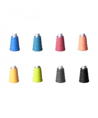 Taco de goma para muletas BCR de colores 18 mm - Ref: BCR