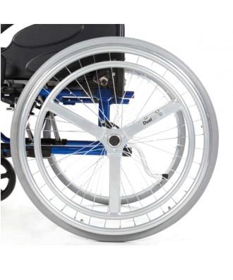 Silla de ruedas de aluminio para hemiplegia con doble aro - Ref: ACTION 3NG Doble Aro