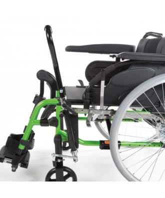 Silla de ruedas de aluminio con palanca de condución (hemiplejia) - Ref: ACTION 3NG Palanca