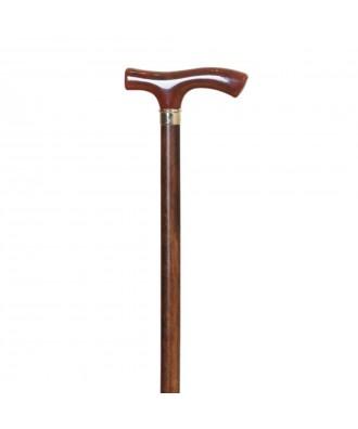 Bastón muletilla de haya y puño concha - Ref: 86