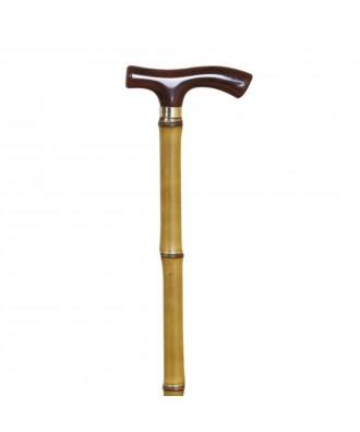 Bastón muletilla de bambú con puño concha - Ref: 89