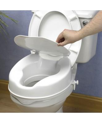Elevador de WC 10 cm con tapa - Ref: AD-509B-LUX