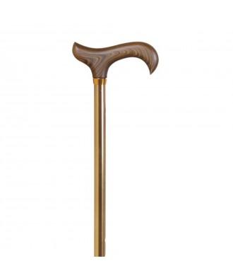 Bastón muletilla extensible de aluminio bronce y puño de madera - Ref: 366