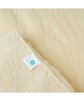 Manta antiescaras de lana natural
