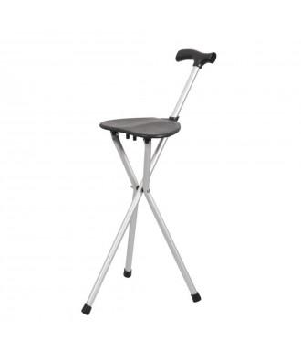 Bengala de alumínio com assento dobravel - Ref: 861
