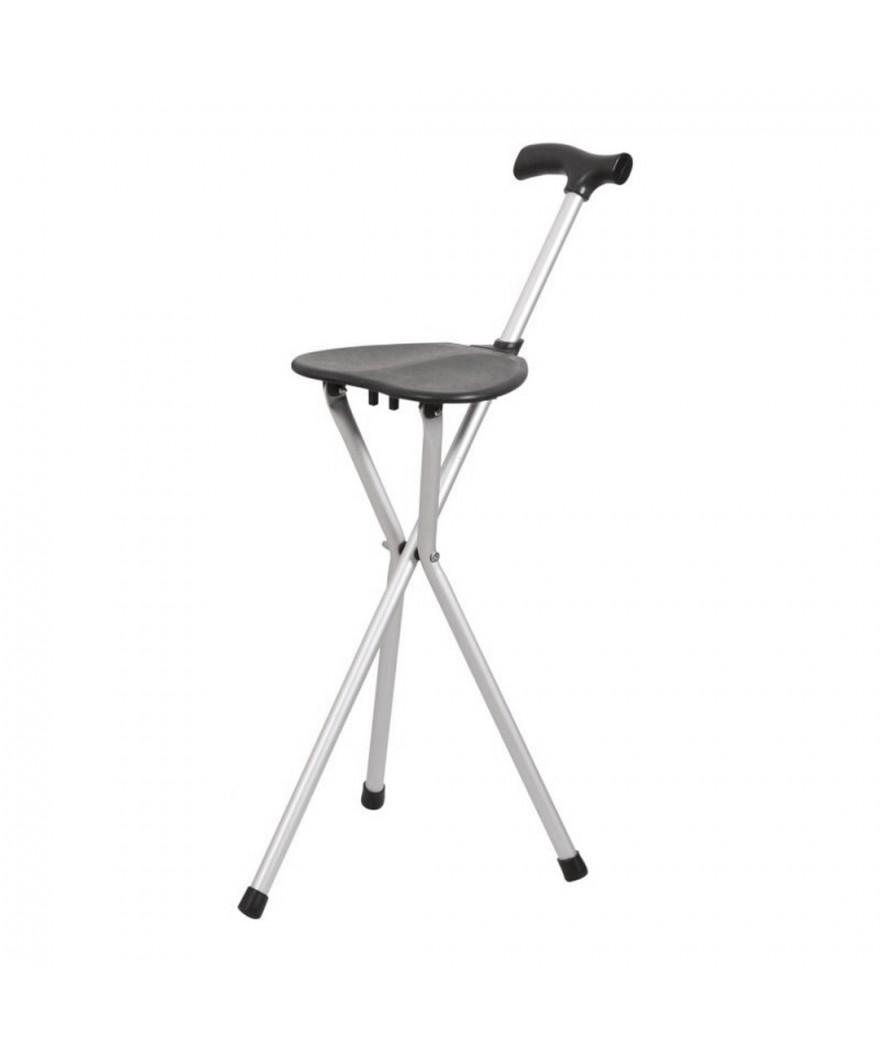 Bastón de aluminio con asiento plegable - Ref: 861