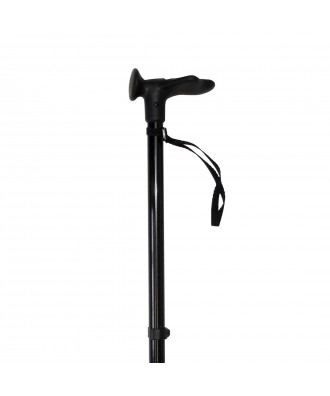 Bastón muletilla extensible de aluminio negro - Ref: BAR-N