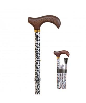 Bastón muletilla plegable de aluminio estampada - Ref: 307