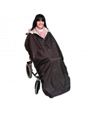 Capa impermeável sem mangas para cadeira de rodas
