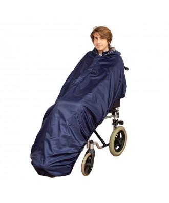 Capa impermeável com interior macio sem mangas para cadeira de rodas