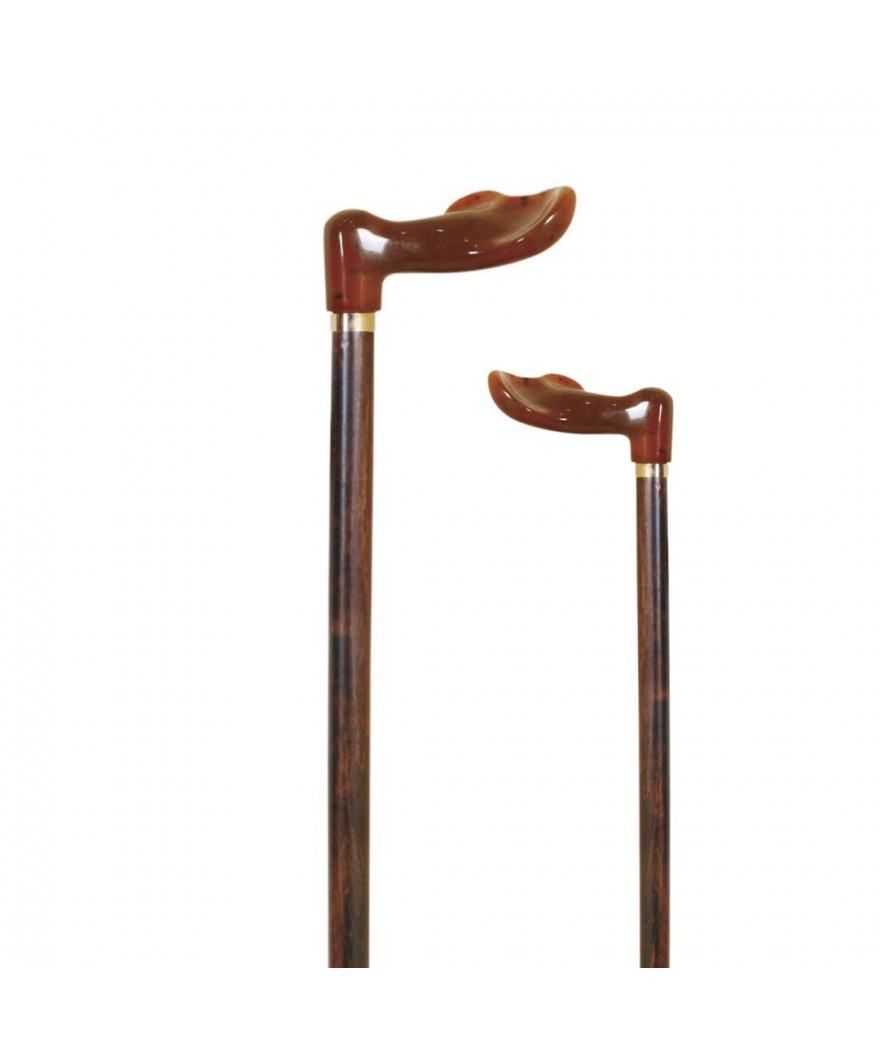 Bastón muletilla de haya con puño anatómico concha - Ref: 150 (dcha) / 151 (izq)
