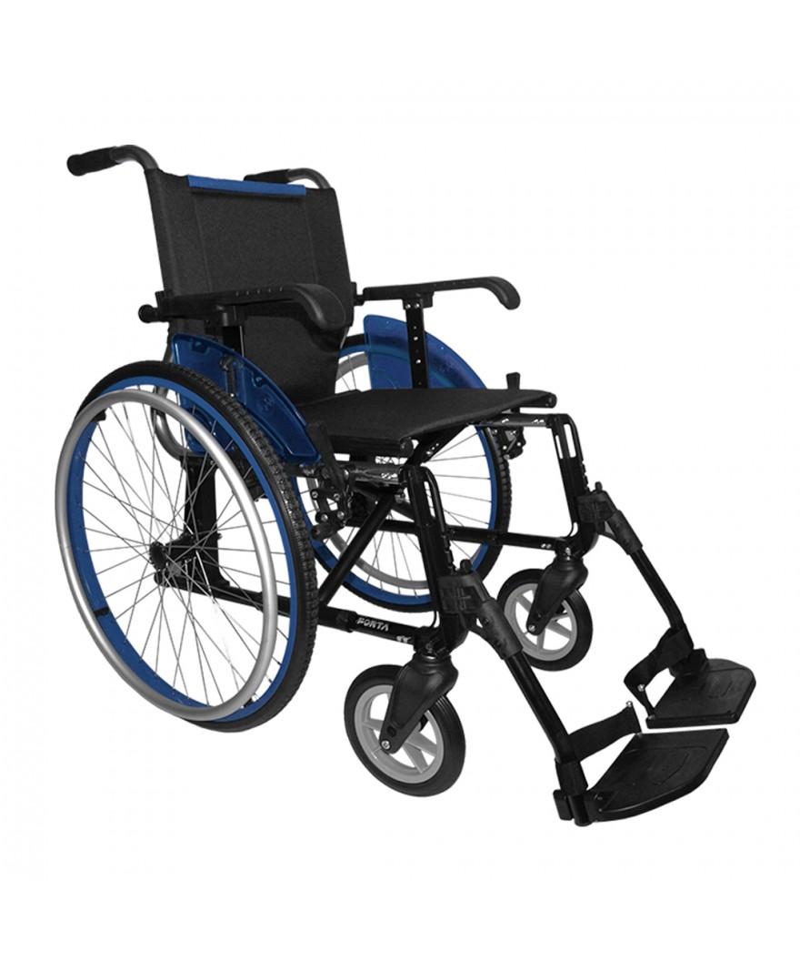 Silla de ruedas de aluminio plegable - Ref: LINE 600