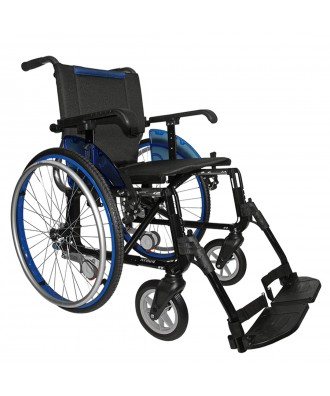 Cadeira de rodas de alumínio desdobrável - Ref: LINE GIRO