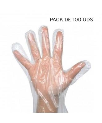 Guantes de plástico tipo frutería 100 uds