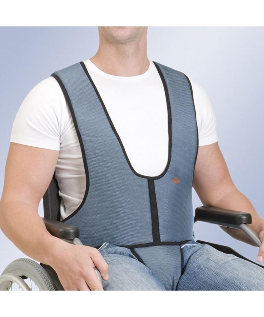 Arnés chaleco con pieza perineal para silla - Ref: 1002