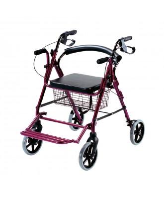 Rollator e cadeira de rodas (2 em 1) dobrável - Ref: 2226