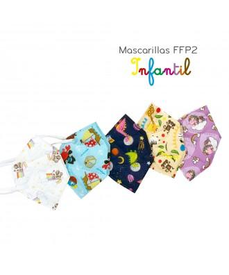 Mascarilla FFP2 Infantil com debuxos (Pacote 10 uds)