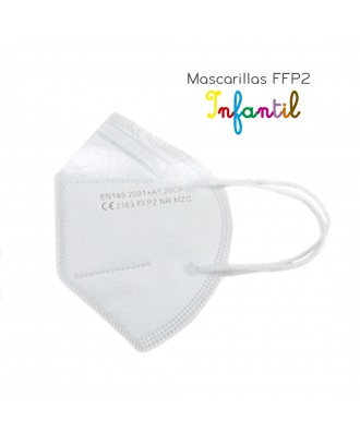 Mascarilla FFP2 Infantil branca (Pacote 10 uds)