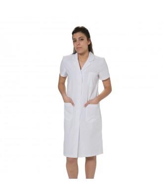 Bata clásica para mujer de manga corta - Ref: Sanitaria