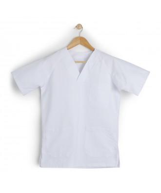 Casaca cuello pico para mujer de manga corta - Ref: Sanitaria
