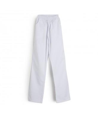 Calça com bolsos e cintura de borracha - Ref: Sanitaria