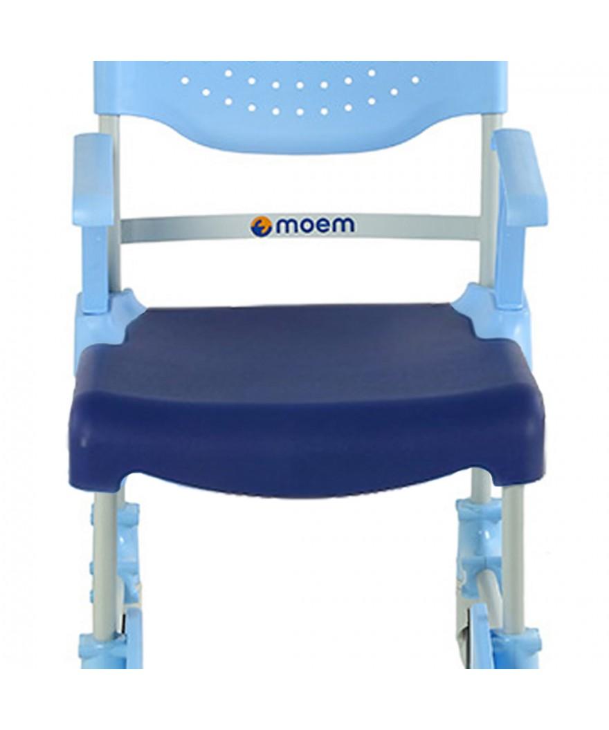 Asiento acolchado cerrado para silla de ducha y wc MOEM - Ref: 50875