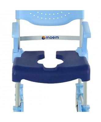 Asiento acolchado abierto para silla de ducha y wc MOEM - Ref: 50874