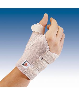 Muñequera elástica de pulgar abierta corta con férula - Ref: MP-D70 (dcha) / MP-I70 (izq)
