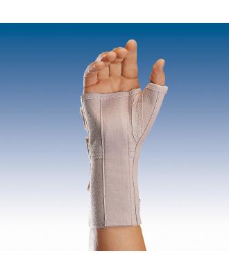 Muñequera elástica abierta larga con férula palmar y pulgar - Ref: MFP-D80 (dcha) / MFP-I80 (izq)