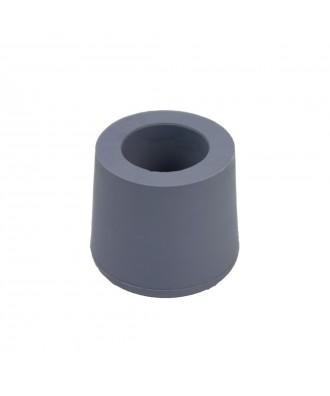 Taco de goma gris para muletas y andadores 22 mm