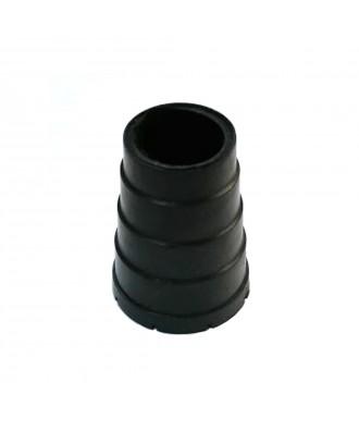 Ponteira de borracha preto para canadianas e andarilhos 22 mm