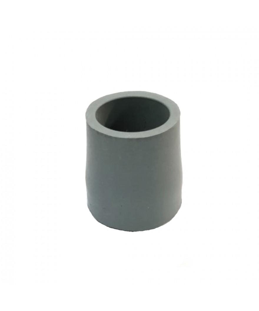 Taco de goma gris para andadores 24 mm