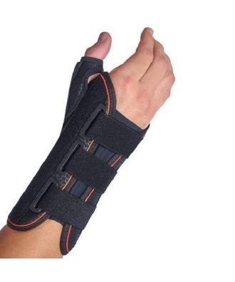 Muñequera semirrígida inmovilizadora larga con férula palmar y pulgar - Ref: MFP-D81 (dcha) / MFP-I81 (izq)