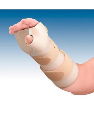 Férula de inmovilización de muñeca en termoplástico (dorsiflexión) con pulgar - Ref: TP-6103D (dcha) / TP-6103I (izq)