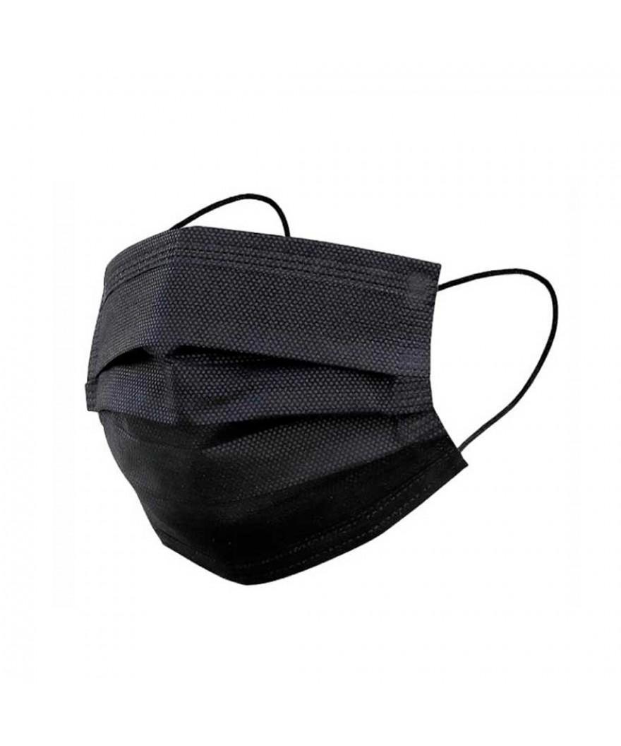 Mascarillas quirúrgicas 3 capas Tipo IIR Negra (Paquete 25 uds)