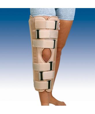 Órtesis inmovilizadora de rodilla de 3 paneles a 0º - Ref: IR-5000 (50 cm) / IR-6000 (60 cm) / IR-7000 (70 cm)