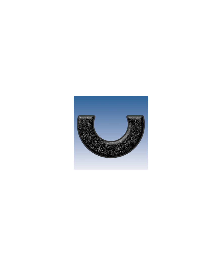 Rodete medialuna neopreno - Ref: RR-ML-NEGRO-NE