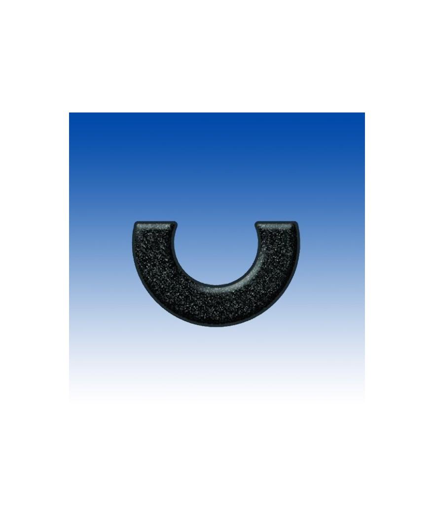 Rodete medialuna silicona - Ref: RR-ML-NEGRO-SIL