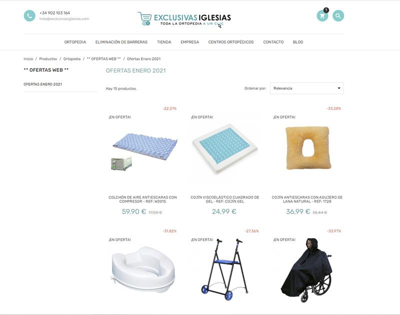 Tienda online Exclusivas Iglesias