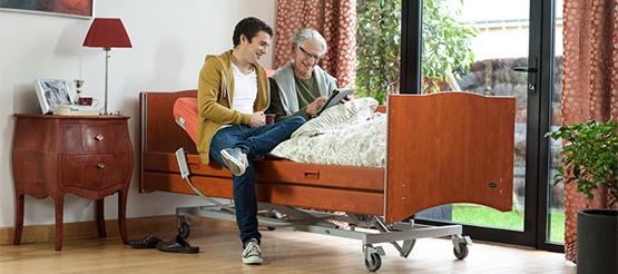 cama articulada con carro elevador alegio madera